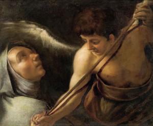 Херувим пронзает сердце Терезы Авильской копьем