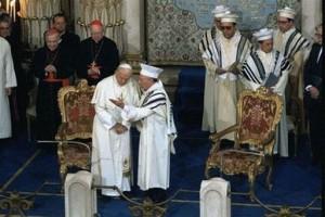 Иоанн Павел II в римской синагоге