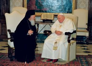 Папа Иоанн Павел II и Вселенский Патриарх Варфоломей
