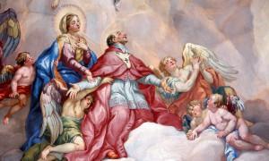 Й-М. Роттмайер. Заступничество святого Карло Борромео поддерживаемого Девой Марией (1714 г.)