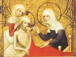 Святая Елизавета кормит больного