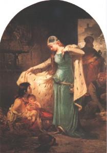 Святая Елизавета помогает бедным