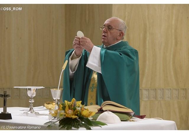 Папа Франциск на Мессе в Доме Св. Марфы: Иисус скорбит о мире, который убивает