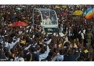 Встреча Папы Франциска с угандийской молодежью