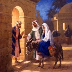 Мария и Иосиф ищут места в гостинице
