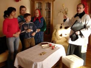 Рождественский визит священника