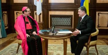 Президент Украины и представитель Ватикана обсудили подготовку визита понтифика