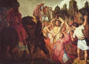 Рембрандт. Побиение камнями св. Стефана