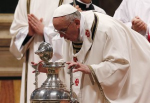 Папа Франциск на Мессе елеев