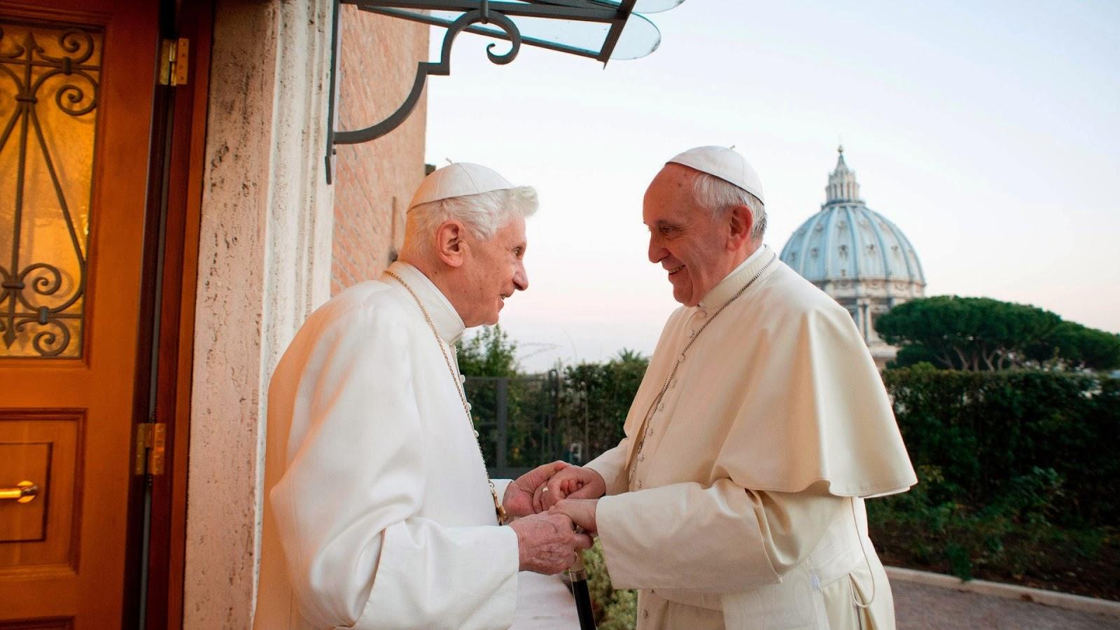 papa bento e francisco