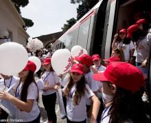 Папа Франциск встретил пассажиров «Детского поезда» (ФОТО+ВИДЕО)