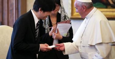 Папа Римский встретился с японским принцем и премьер-министром Польши