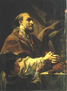 Святой Филипп Нери служит Мессу