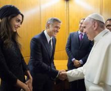 Звезды Голливуда на встрече в Ватикане. Святейший Отец: искоренить любое проявление агрессивности (ВИДЕО+ФОТО)