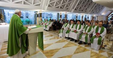 Папа: Иисус учит здоровому реализму