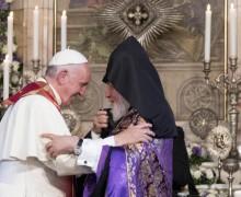 Католикос всех армян Гарегин Второй приветствовал Папу Франциска