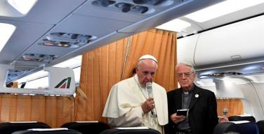 Пресс-конференция Папы на борту самолета
