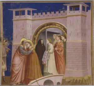 Иоаким и Анна встречаются у Золотых ворот