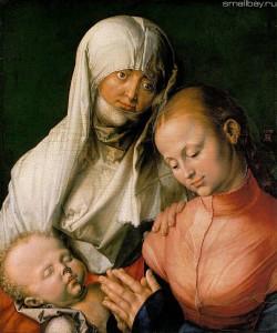 Дюрер. Святая Анна, Пресвятая Дева Мария и Младенец Иисус