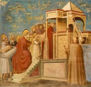 Джотто. Введение Марии во храм