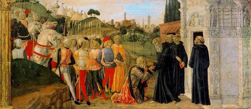Тотила посещает св. Бенедикта