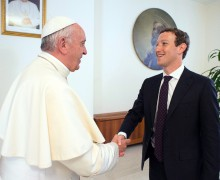 Папа принял на аудиенции основателя Facebook Марка Цукерберга