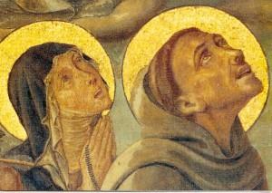 Святая Клара и святой Франциск