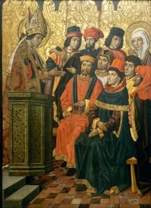 Моника и Августин на проповеди св. Амвросия