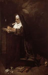 Святая Клара в пожилом возрасте