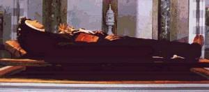 Почившая св. Клара
