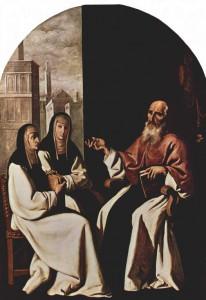 Фр. Зурбаган. Св. Иероним с духовными дочерьми Павлой и Евстохией