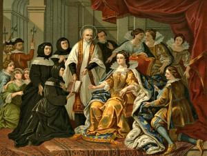 Винсент де Поль и королева