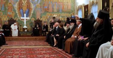 Фотоподробности встречи Папы Римского с Патриархом всея Грузии
