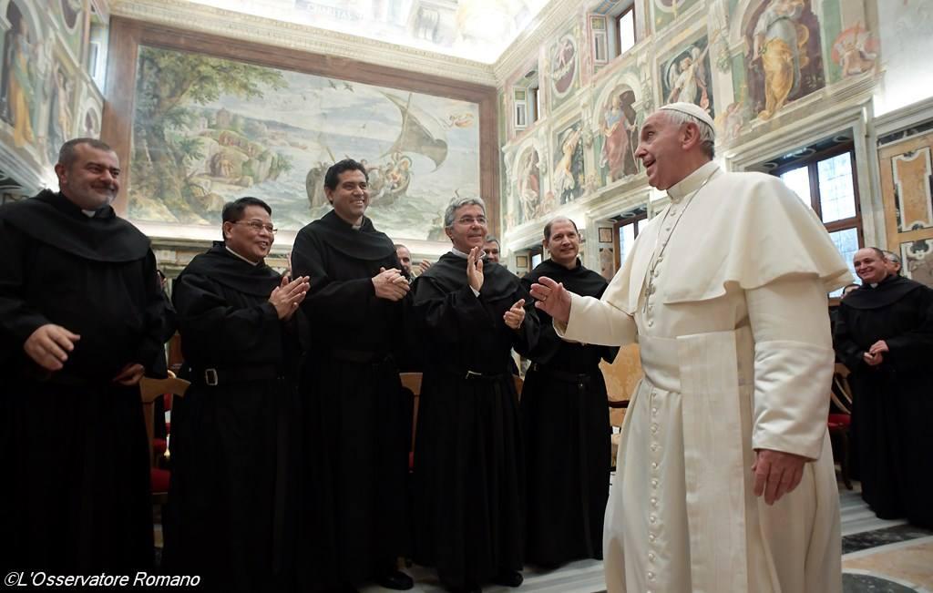 Папа призвал августинцев быть творцами единства в милосердии