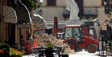 Сильное землетрясение вновь зафиксировано в центральной Италии
