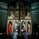 Officials unveil Ghent Altarpiece after being partially restored in Ghent's St. Bavo's Cathedral