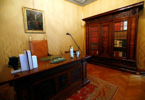 Pope's private office is pictured in Castel Gandolfo, near Rome