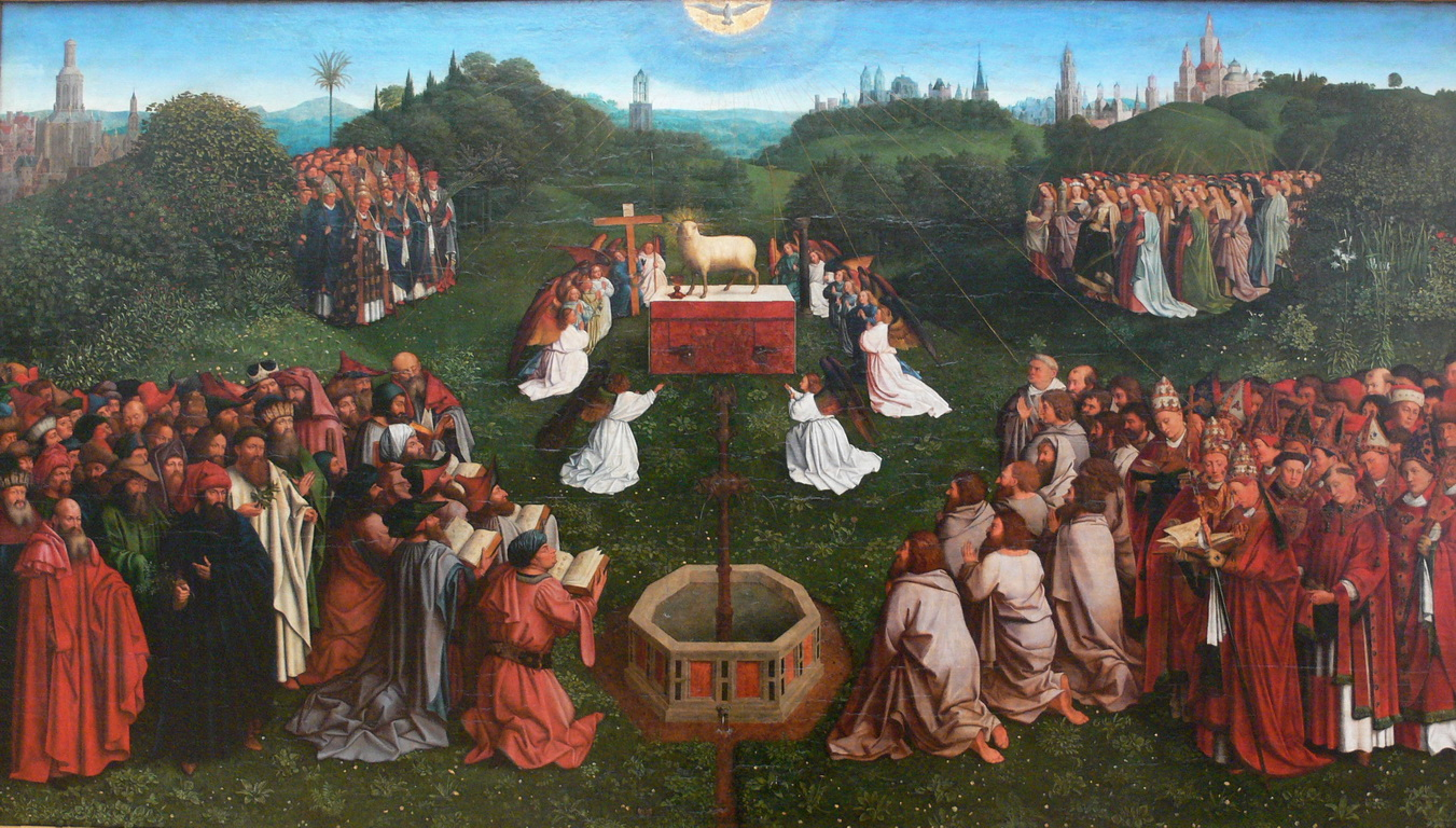 ghent altarpiece The ghent altarpiece or adoration of the mystic lamb (dutch: het lam gods or the lamb of god completed 1432) is a very large and.