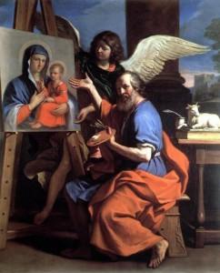 Евангелист Лука пишет икону Пресвятой Богородицы