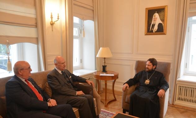 Генеральный секретарь по международным связям Мальтийского ордена встретился с митрополитом Иларионом