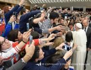Папа встретился с молодыми сотрудниками Итальянской гражданской службы