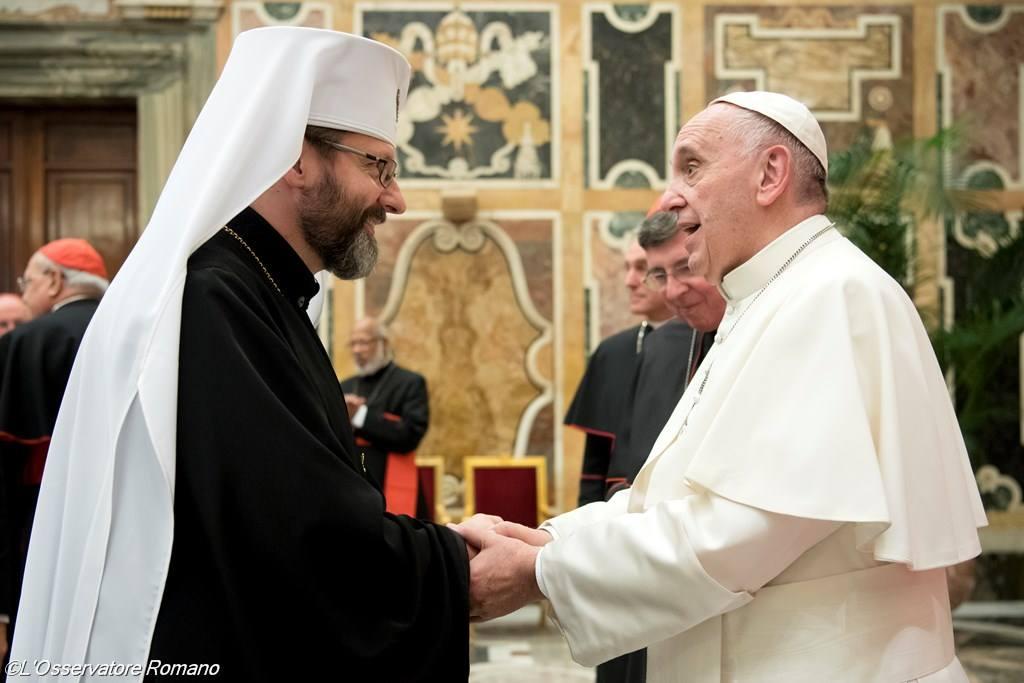 Папа встретился с Верховным архиепископом Киевским и Галицким Святославом Шевчуком
