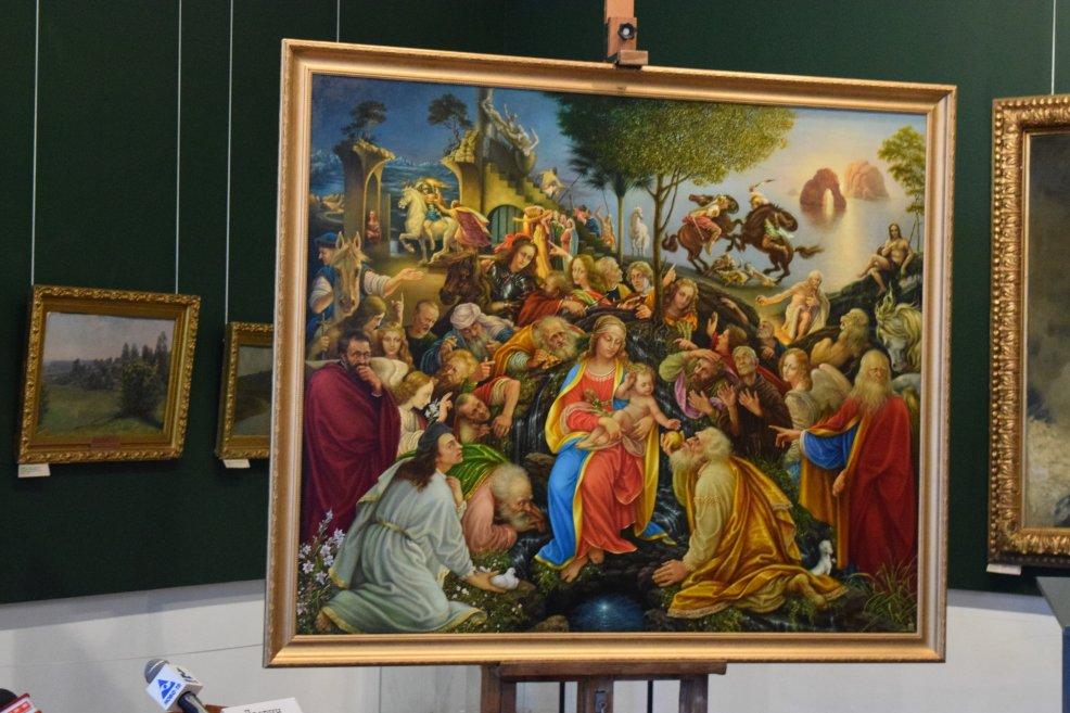 Новокузнецкий художник дорисовал картину да Винчи «Поклонение волхвов»