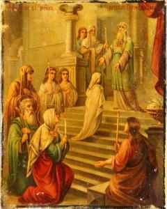 Православная икона Введения во Храм Пресвятой Богородицы