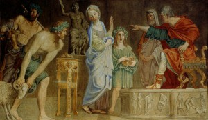 Святая Цецилия перед судом