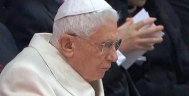 Бенедикт XVI не будет присутствовать на консистории 19 ноября