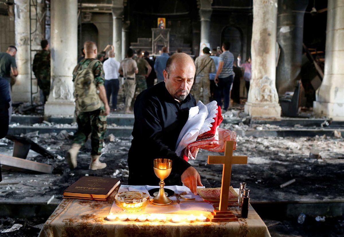 Ирак, Каракош: первая Месса в соборе, разрушенном джихадистами