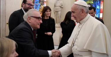 Папа встретился с кинорежиссером Мартином Скорсезе
