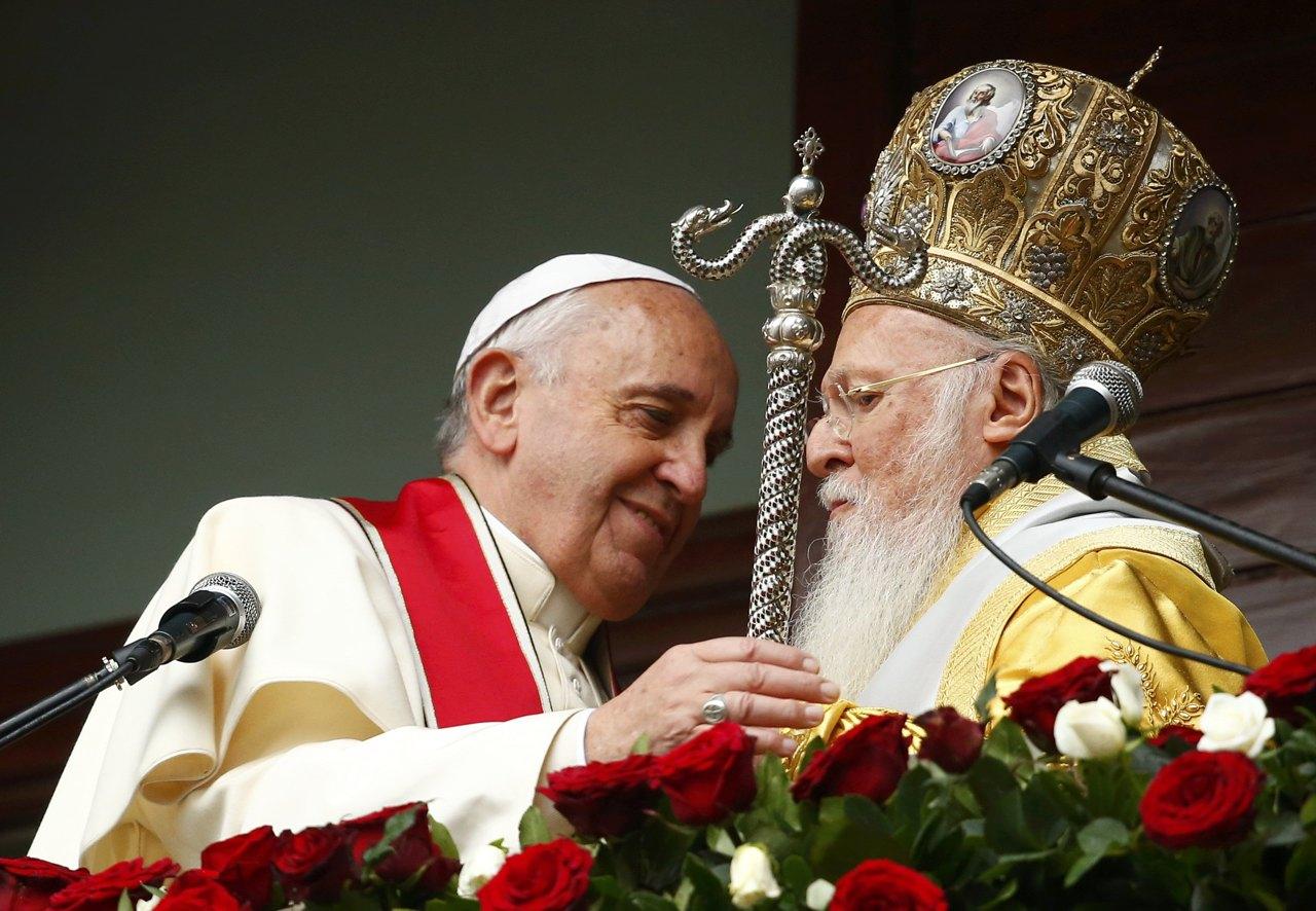 Папа Франциск поблагодарил Патриарха Варфоломея за приверженность экуменизму