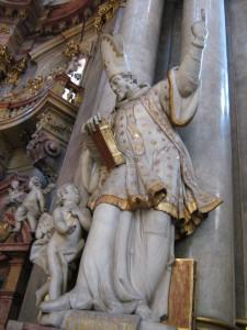 Статуя святого Григория Назианзина в Праге